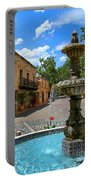 Fountain At Tlaquepaque Arts And Crafts Village Sedona Arizona Portable Battery Charger
