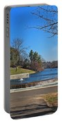 Fountain At Wachusett Dam Portable Battery Charger