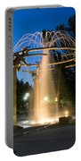 Fountain In Riverfront Park Portable Battery Charger