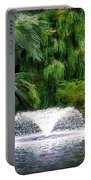 Fountain In The Park Portable Battery Charger
