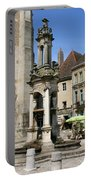 Fountain On The Market Place Autun Portable Battery Charger