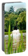 Fountain Side Portable Battery Charger by Greg Fortier