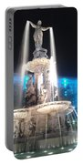 Fountain Square At Night Portable Battery Charger