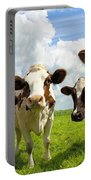 Four Chatting Cows Portable Battery Charger