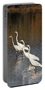 Four Egrets Fishing Portable Battery Charger