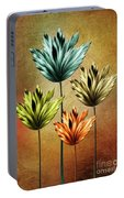 Four Fractal Flower Portable Battery Charger