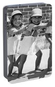 Four Little Girls Having Fun Portable Battery Charger