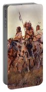 Four Mounted Indians Portable Battery Charger