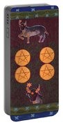 Four Of Pentacles Portable Battery Charger
