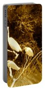 Four Resting Egrets Portable Battery Charger