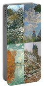 Four Seasons A Collage Of Monets Portable Battery Charger