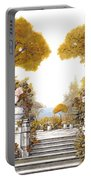 four seasons-autumn on lake Maggiore Portable Battery Charger