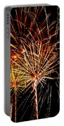 Fourth Of July Fireworks  Portable Battery Charger by Saija  Lehtonen