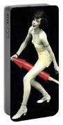 Fourth Of July Rocket Girl Portable Battery Charger