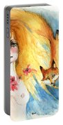 Fox Girl Portable Battery Charger