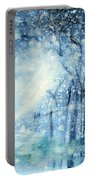 Foxes In The Snow Portable Battery Charger