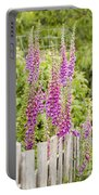 Foxglove Fence Portable Battery Charger by Anne Gilbert