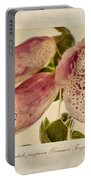 Foxglove Textures Portable Battery Charger