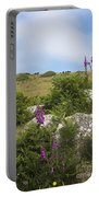 Foxgloves And Cows Portable Battery Charger