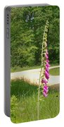 Foxgloves In New Forest Portable Battery Charger