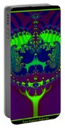 Fractal 25 Emerald Crown Jewels Portable Battery Charger