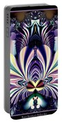 Fractal 26 Jeweled Tone Lotus Flower Portable Battery Charger