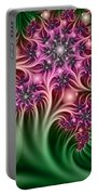 Fractal Abstract Dreamy Garden Portable Battery Charger