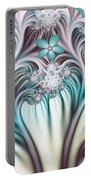 Fractal Abstract Fantasy Flower Garden 2 Portable Battery Charger