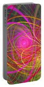 Fractal - Abstract - Loopy Doopy Portable Battery Charger by Mike Savad