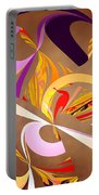 Fractal - Abstract - Space Time Portable Battery Charger by Mike Savad