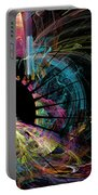 Fractal - Black Hole Portable Battery Charger by Susan Savad