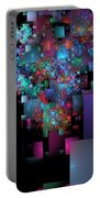 Fractal Confetti Portable Battery Charger
