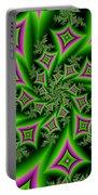 Fractal Dancing Shapes Portable Battery Charger