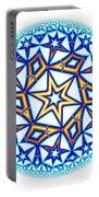 Fractal Escheresque Winter Mandala 1 Portable Battery Charger