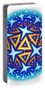 Fractal Escheresque Winter Mandala 10 Portable Battery Charger