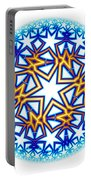 Fractal Escheresque Winter Mandala 2 Portable Battery Charger