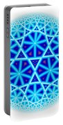 Fractal Escheresque Winter Mandala 4 Portable Battery Charger