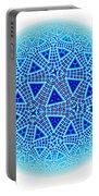 Fractal Escher Winter Mandala 5 Portable Battery Charger