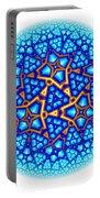 Fractal Escheresque Winter Mandala 8 Portable Battery Charger