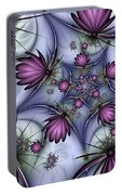 Fractal Fantasy Butterflies Portable Battery Charger