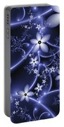 Fractal Fantasy Garden By Night Portable Battery Charger