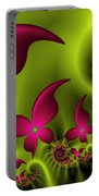 Fractal Fluorescent Fantasy Flowers Portable Battery Charger