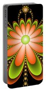 Fractal Floral Decorations Portable Battery Charger