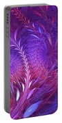 Fractal Flower Field Portable Battery Charger
