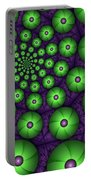Fractal Green Shapes Portable Battery Charger