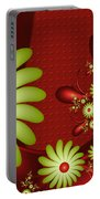 Fractal Happy Flowers 2 Portable Battery Charger