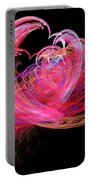 Fractal - Heart - Lets Be Friends Portable Battery Charger