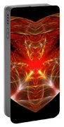Fractal - Heart - Open Heart Portable Battery Charger