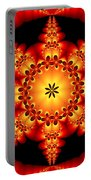 Fractal In The Centre Portable Battery Charger