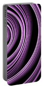 Fractal Purple Swirl Portable Battery Charger